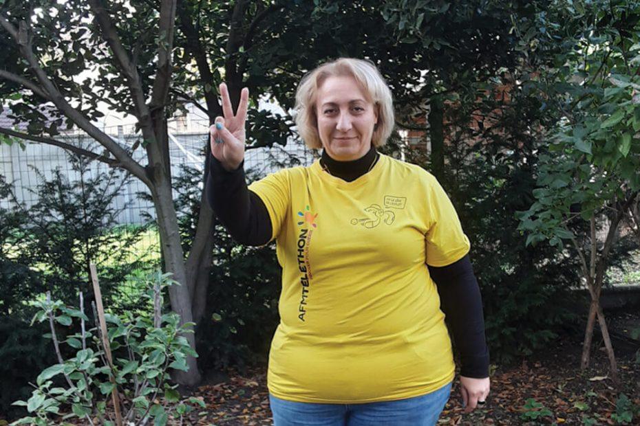 Portrait de Catherine, bénévole Téléthon à Villemomble Espoir