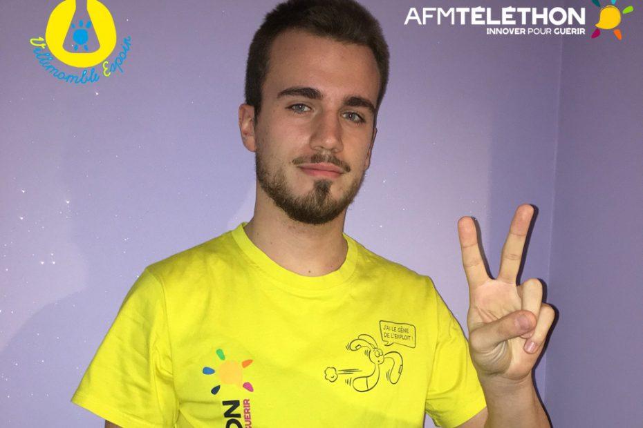 Portrait de Allan, bénévole Téléthon à Villemomble Espoir