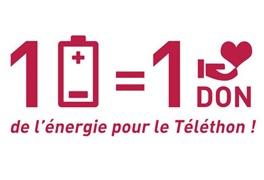 1 pile = 1 don de l'énergie pour le Téléthon