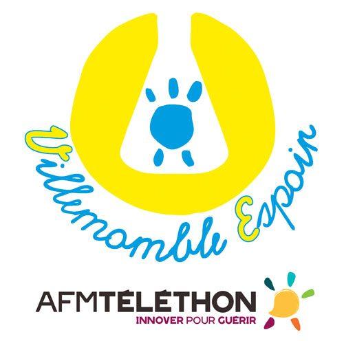Logo de Villemomble Espoir et logo de l'AFM Téléthon
