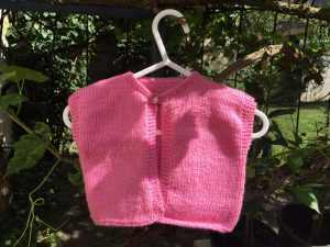gilet rose en layette