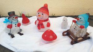 Eléments de décoration pour composition de Noël